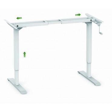 Стіл для роботи сидячи і стоячи з механічним регулюванням