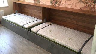 Кровать трансформер для деской комнаты. Мебель трансформер